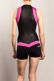 Womens-Wetsuit-Shorty-Back-Pink-TruliWetsuits