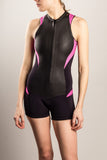Womens-Wetsuit-Shorty-Front-Stylish-Pink-TruliWetsuits