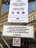 Sticker Consignes alerte attentat