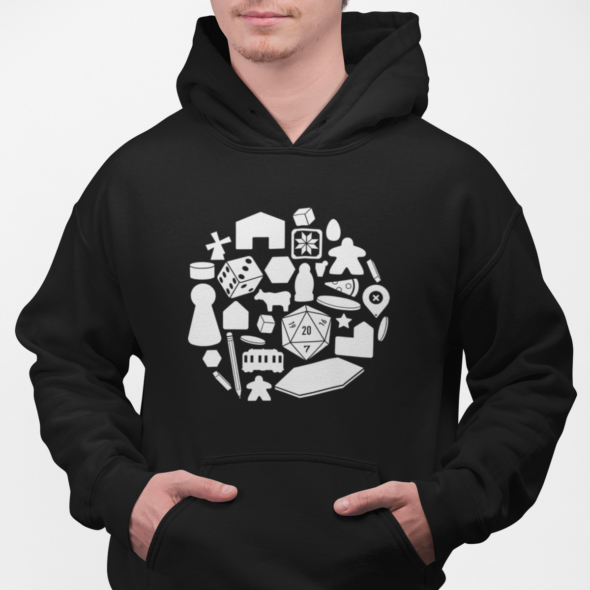 Board Game Pieces Pullover Hoodie