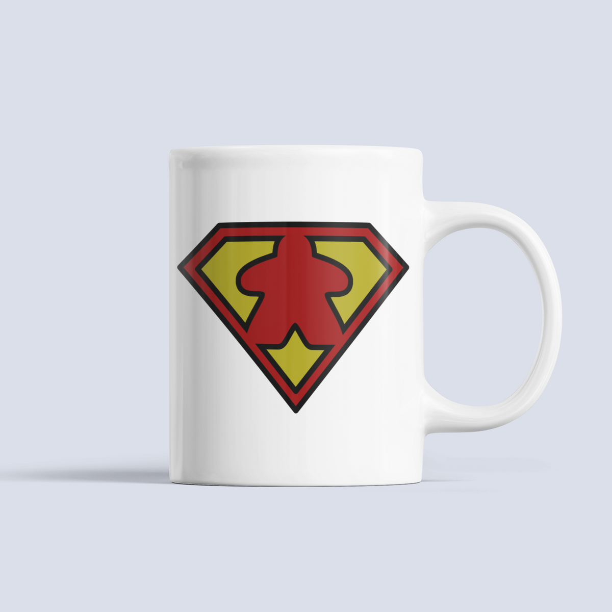 SuperMeeple Symbol Board Game Ceramic 15oz Mug