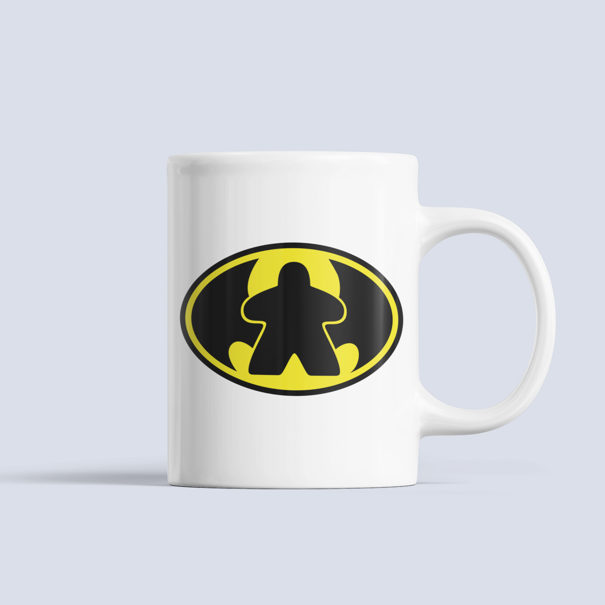 BatMeeple Symbol Board Game Ceramic 15oz Mug