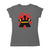 Black Meeple Board Game T-Shirt Women's Flat