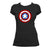 Captain Meeple Shield Board Game T-Shirt Women's Flat