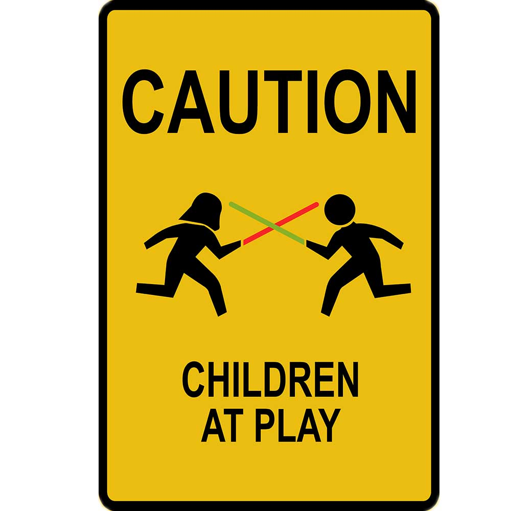 Caution Children at Play Metal Sign