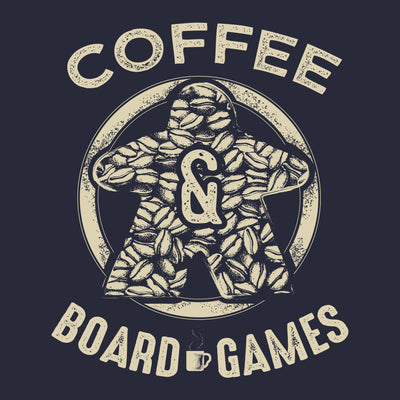 Coffee Bean Meeple Board Game T-Shirt Close Up