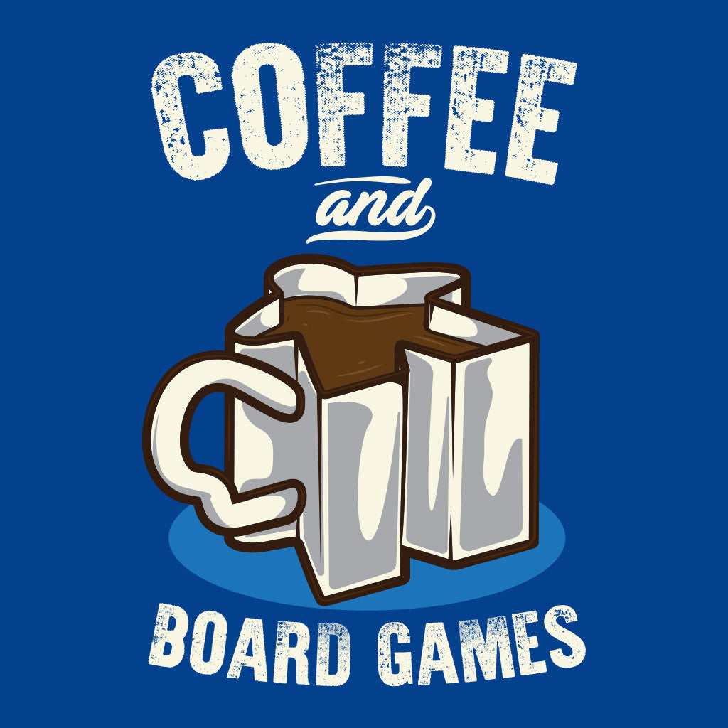 Coffee and Board Games T-Shirt Close Up