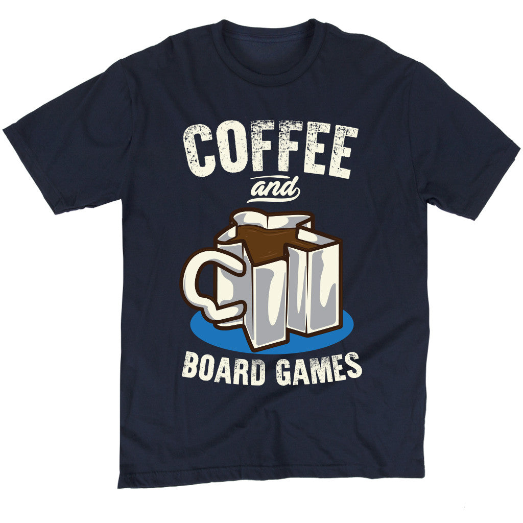 Coffee and Board Games T-Shirt Men's Flat Navy