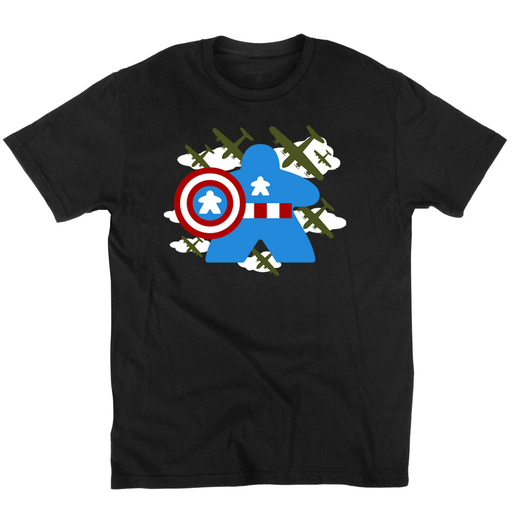 Fighting Captain Meeple Boardgame T-Shirt