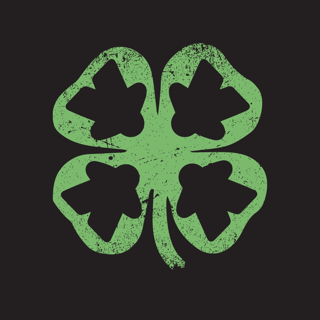 Meeple Leaf Clover - Meeple Shirts  - 1
