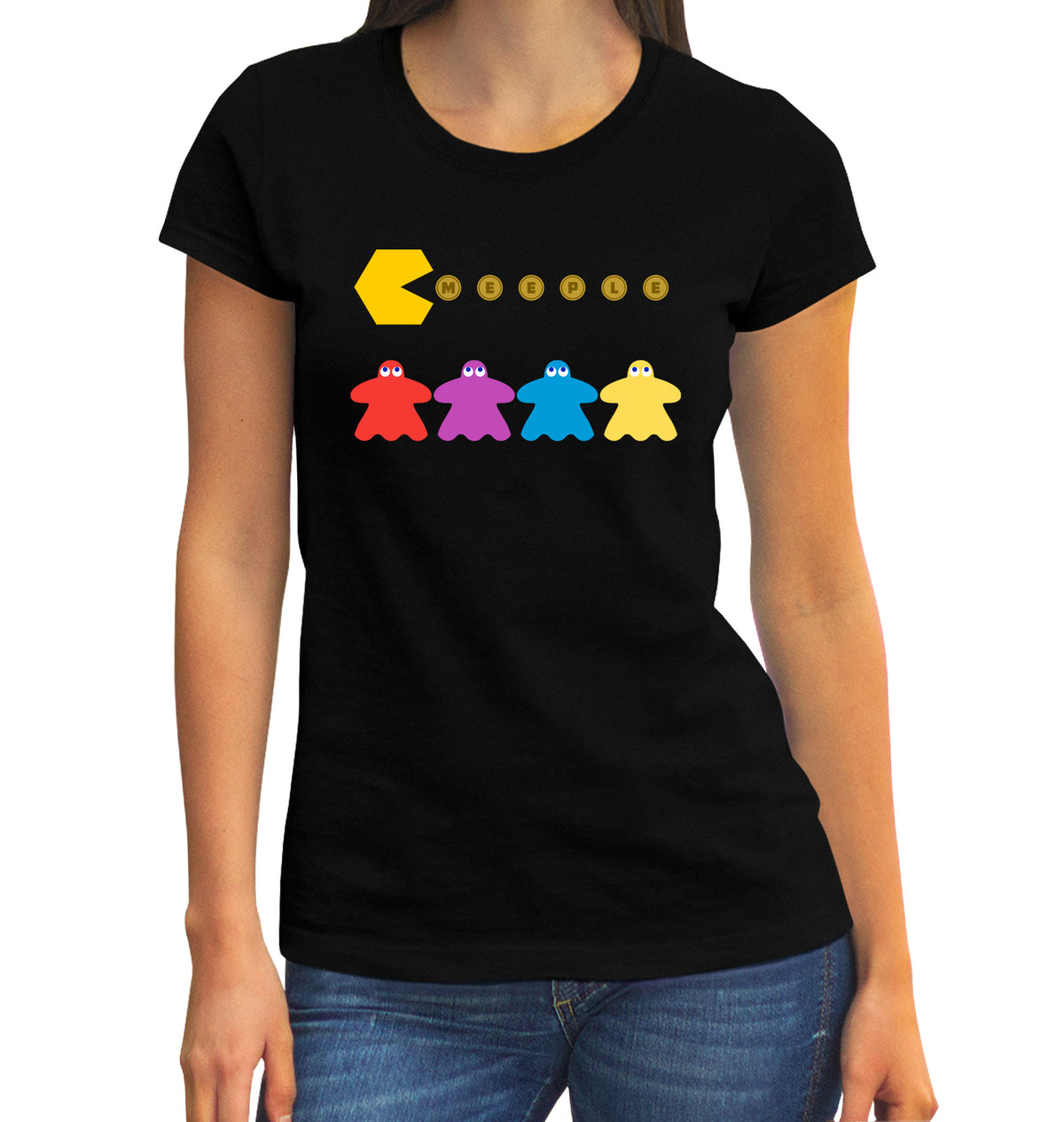 Meeple Chomp Chomp Board Game T-Shirt
