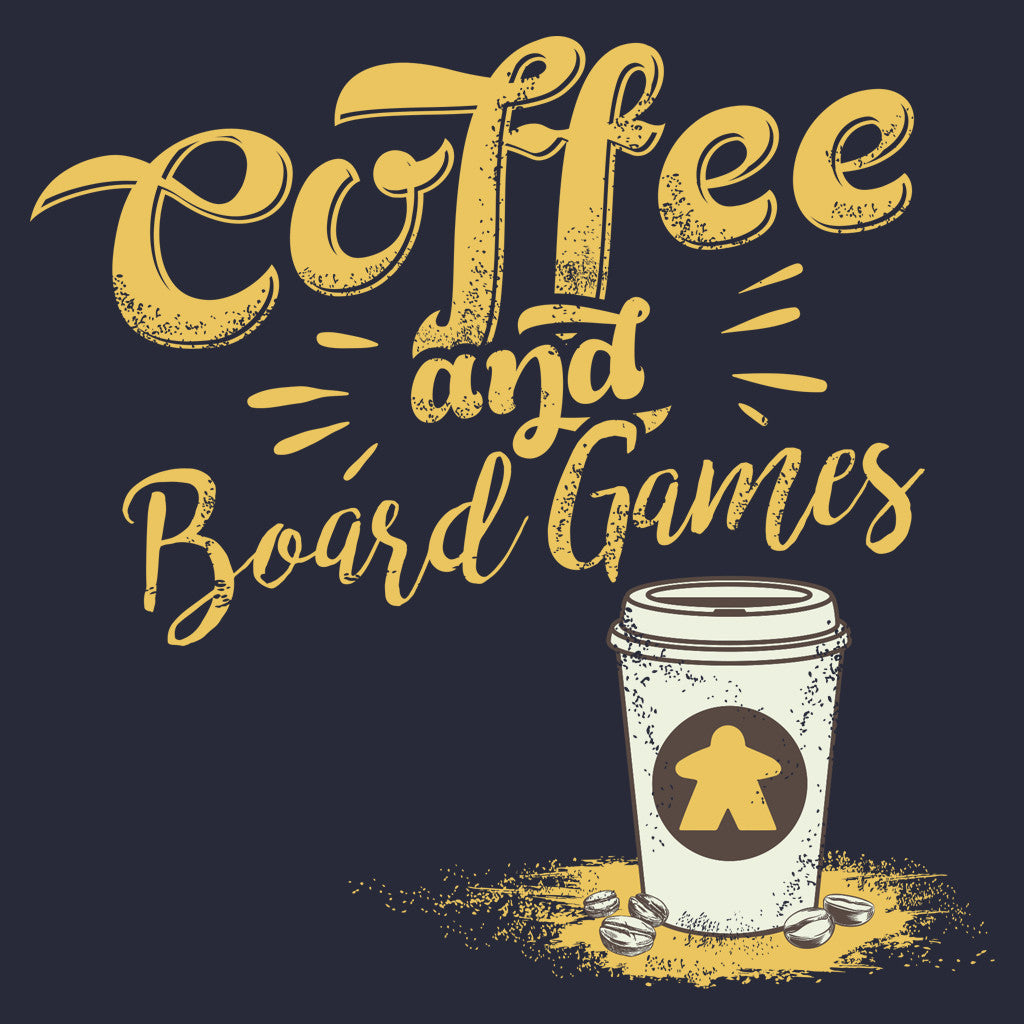 Meeple Coffee To Go Boardgame T-Shirt