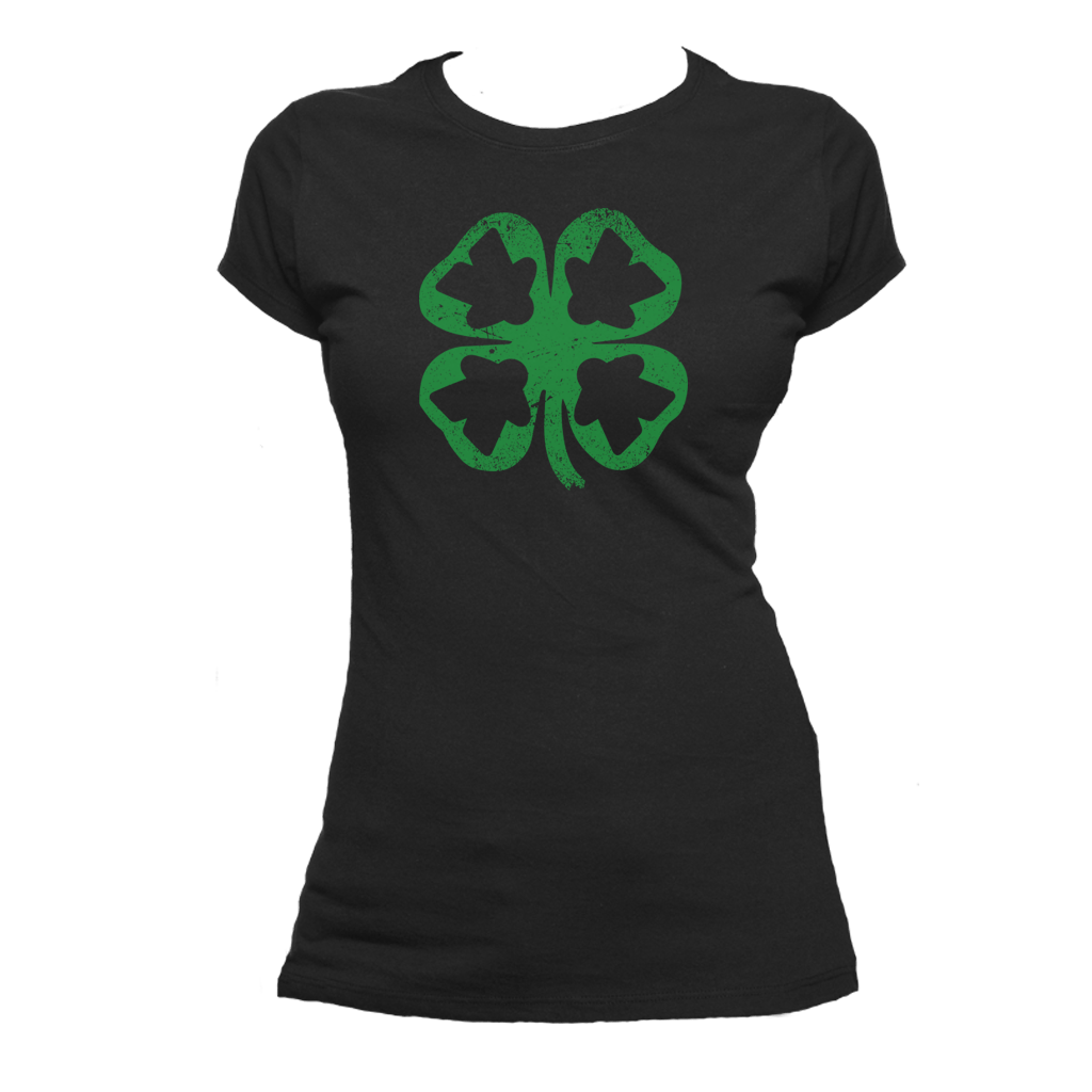Meeple Leaf Clover - Meeple Shirts  - 3