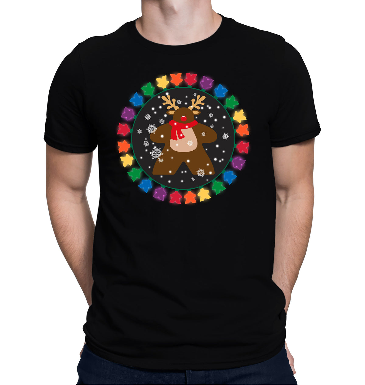 Merry Meeple Boardgame T-Shirt