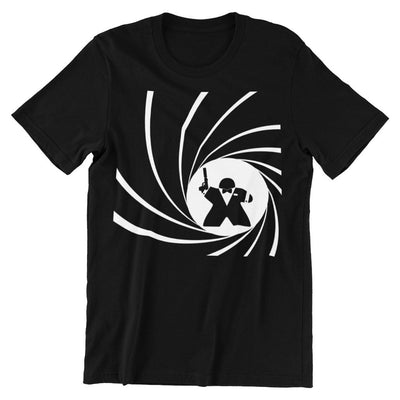 Secret Agent Meeple T-Shirt Men's Flat