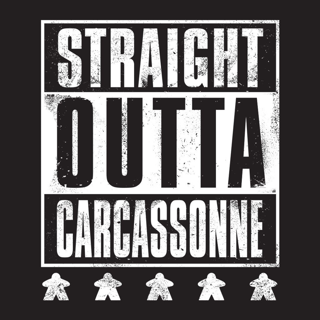 Straight OUTTA Carcassonne - Meeple Shirts  - 1