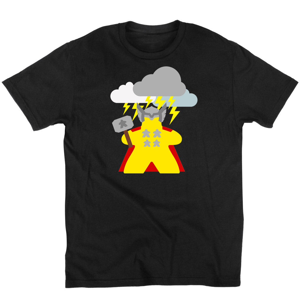 The Mighty Meeple: God of Thunder Board Game T-Shirt Flat Men's