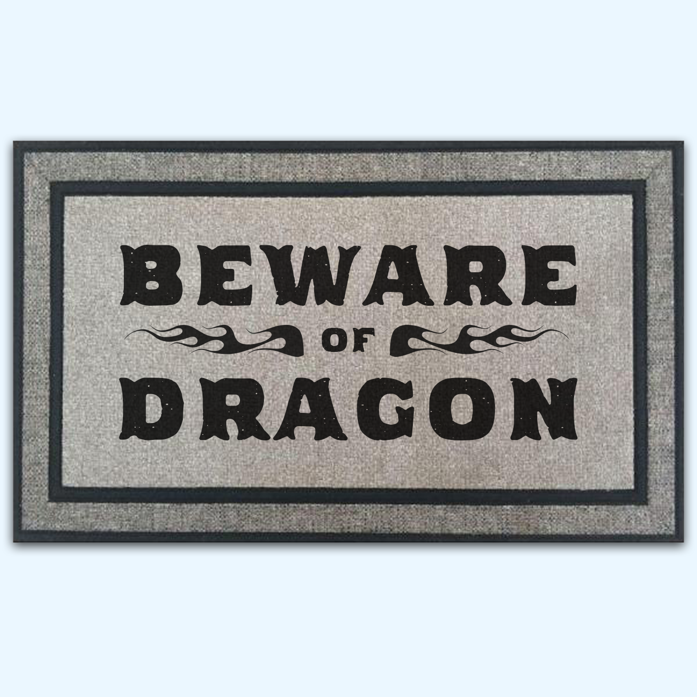 Beware of Dragon Fantasy Game Door Mat