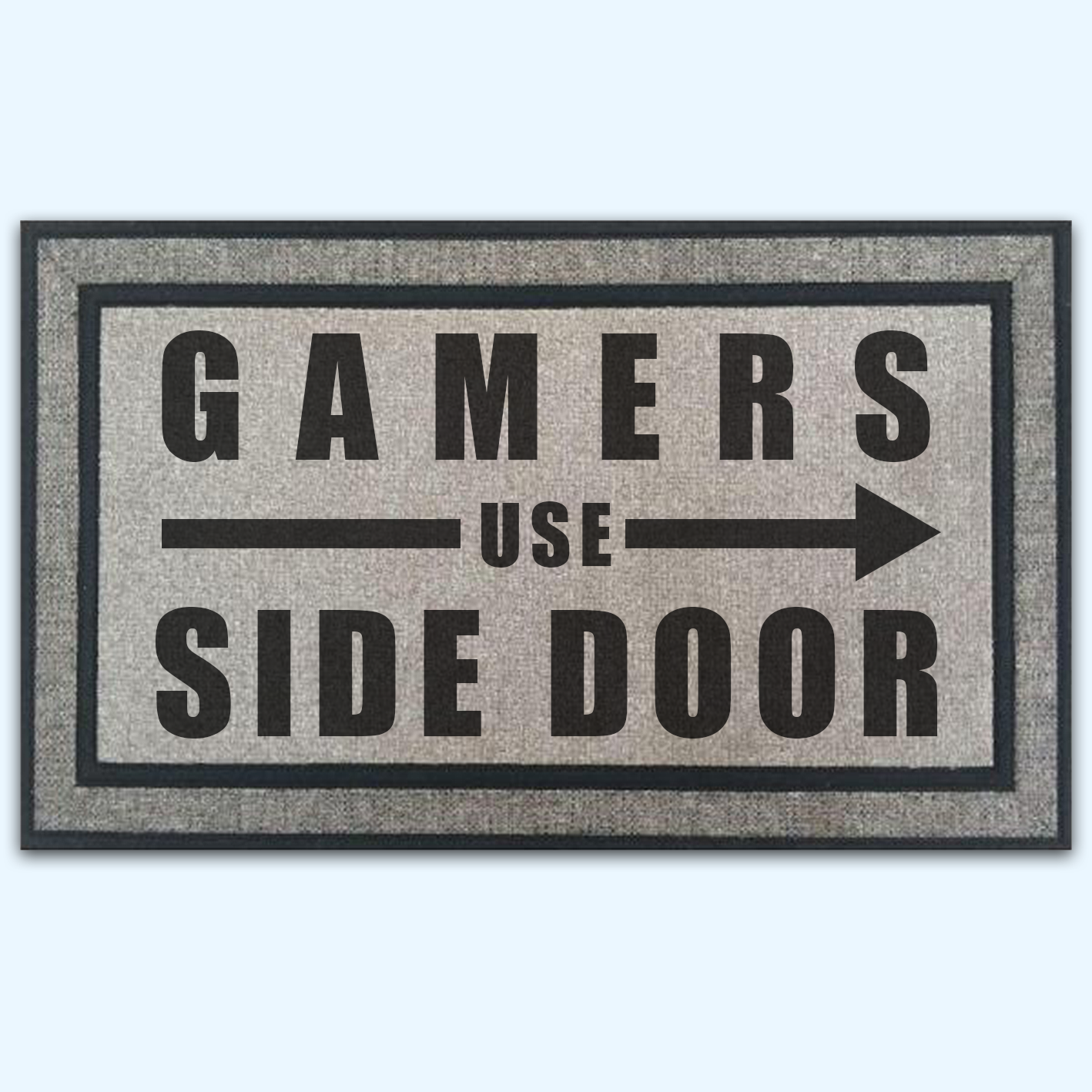 Gamers Use Side Door Board Game Door Mat