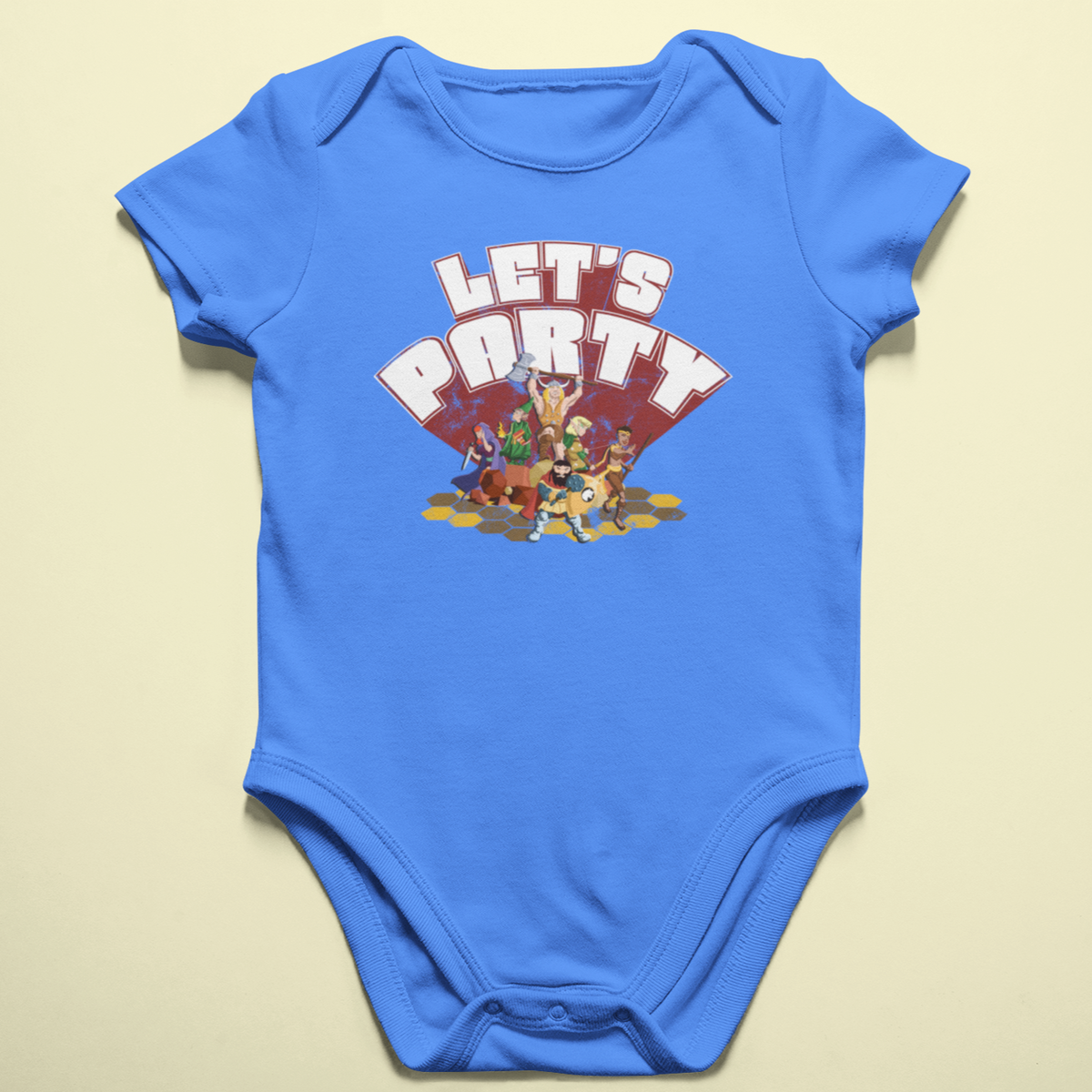 Let's Party Roleplaying Game Baby Onesie