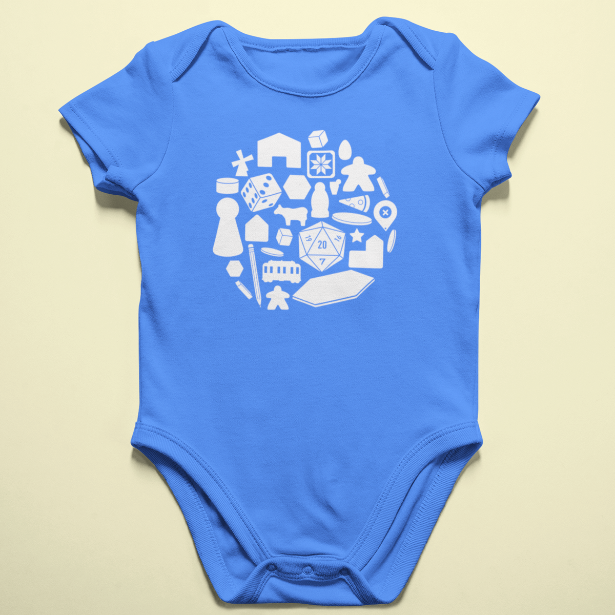 Board Game Pieces Baby Onesie