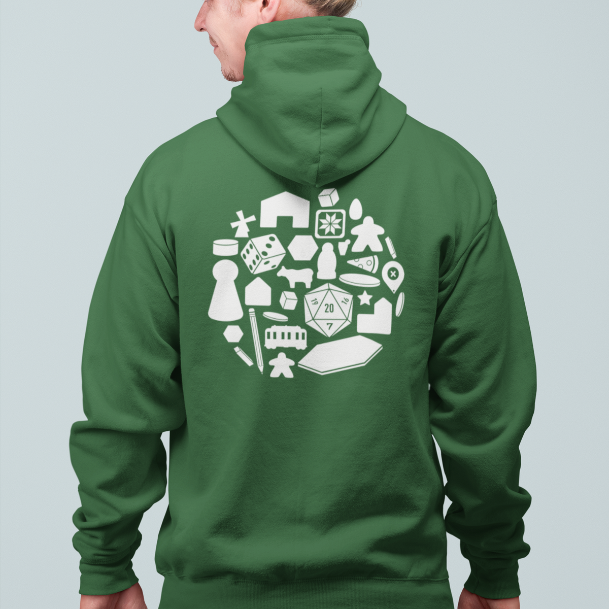 Board Game Pieces Zip Up Hoodie
