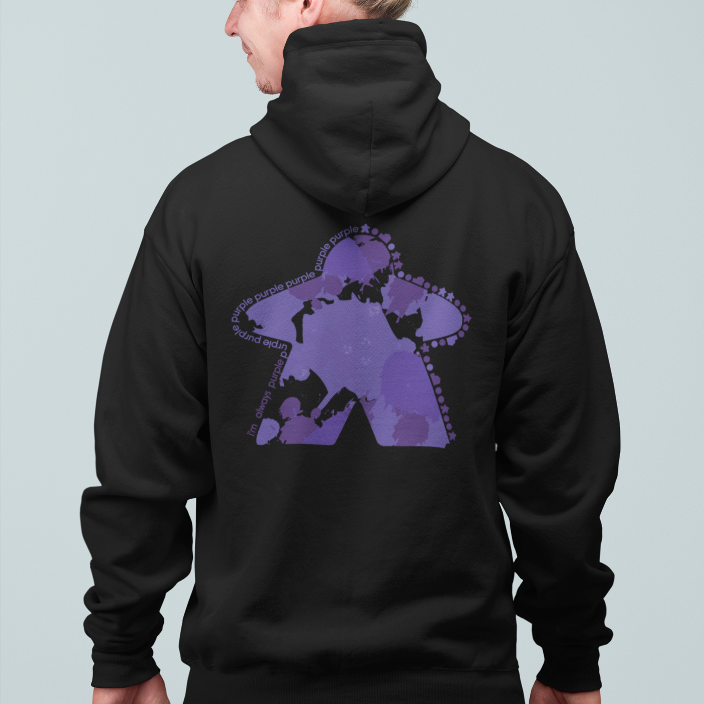 I'm Always Purple Meeple Board Game Zip Up Hoodie