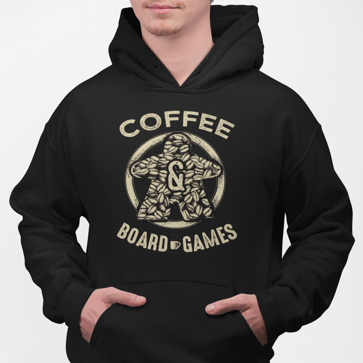 Coffee Bean Meeple Board Game Pullover Hoodie