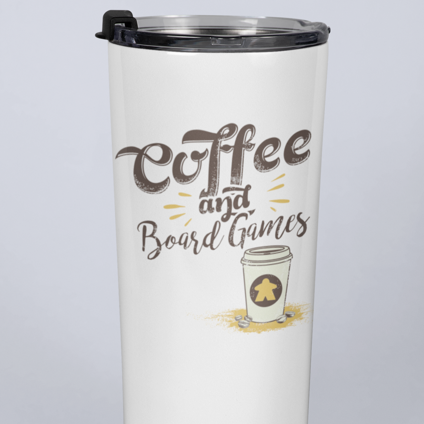 Coffee To Go and Board Game 20oz Travel Mug