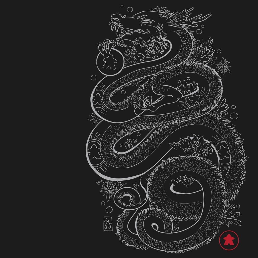 Dragon With The Meeple Tattoos - Board Game t shirt design