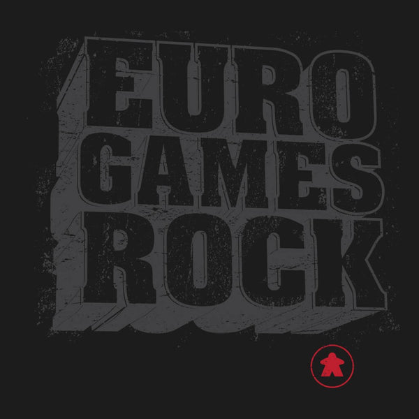Euro Games Rock - Meeple Board Game t shirt design