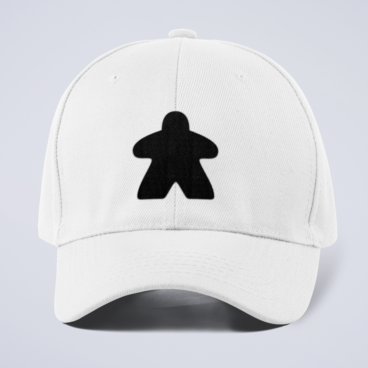 Black Meeple Board Game Curved Bill Hat