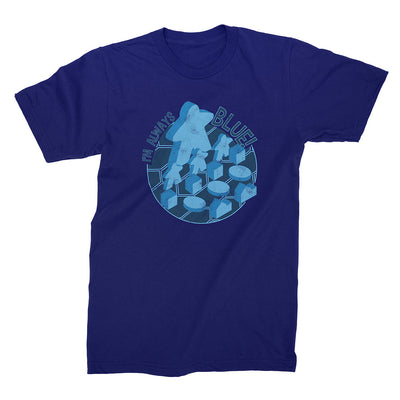I'm Always Blue Meeple Board Game T-Shirt Flat Men's