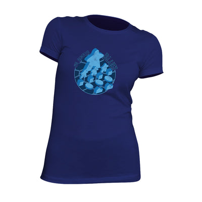 I'm Always Blue Meeple Board Game T-Shirt Flat Women's