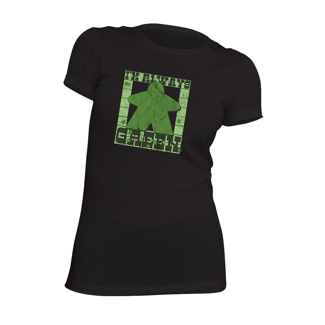 I'm Always Green Meeple Board Game T-Shirt Flat Women's