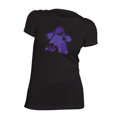 I'm Always Purple Meeple Board Game T-Shirt Flat Women's