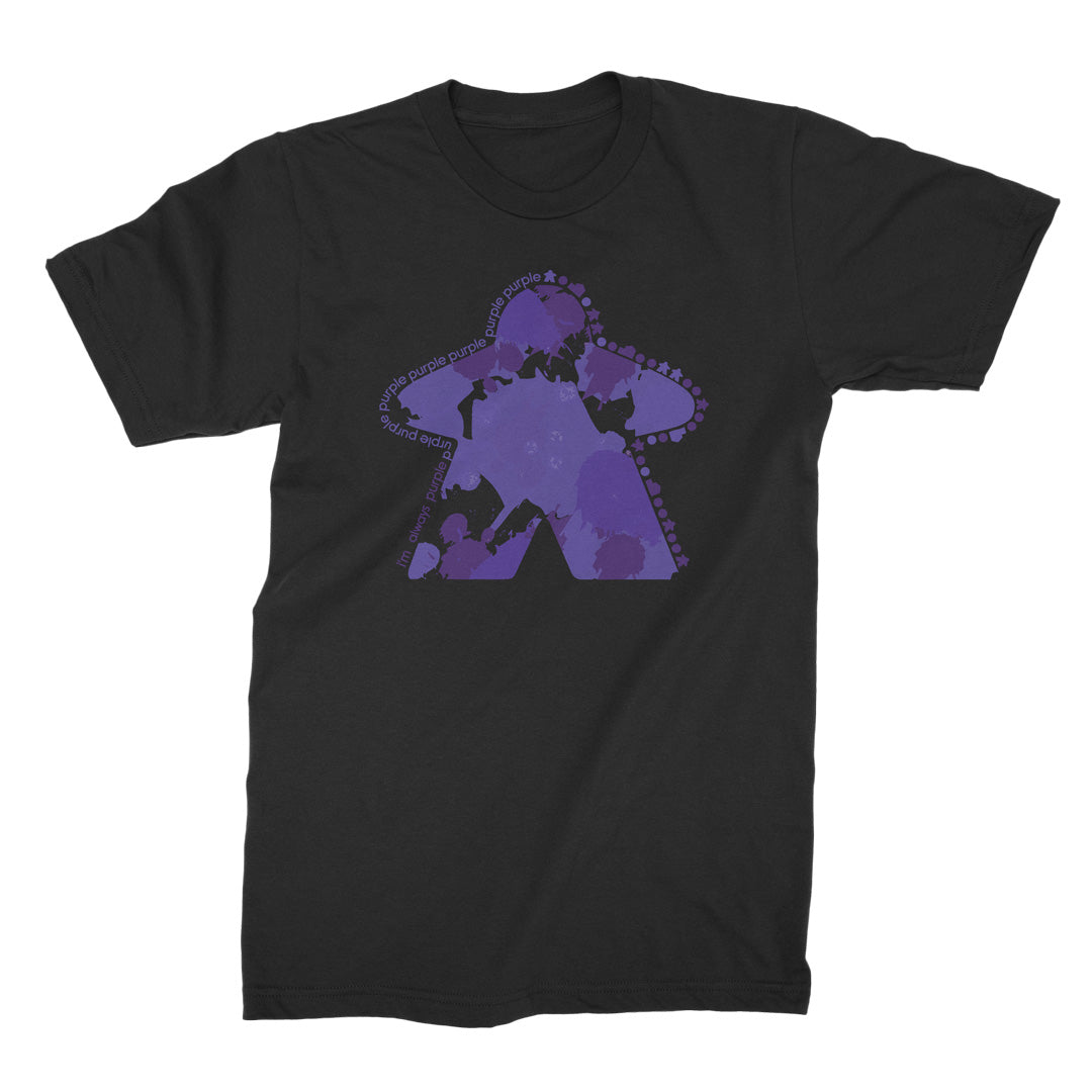 I'm Always Purple Meeple Board Game T-Shirt Flat Men's