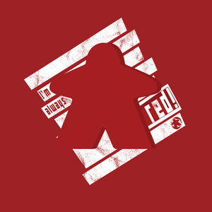 I'm always red meeple t-shirt design