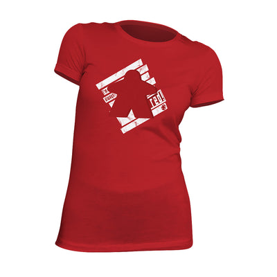 I'm Always Red Meeple Board Game T-Shirt Flat Women's