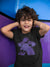 I'm Always Purple Meeple Board Game T-Shirt Action Shot Boy's