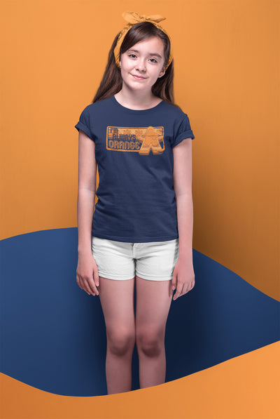 I'm Always Orange Meeple Board Game T-Shirt Action Shot Girl's