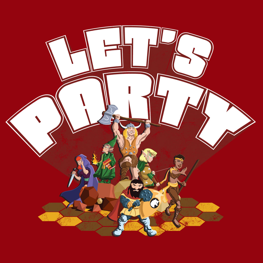 Let's Party Roleplaying Game T-Shirt
