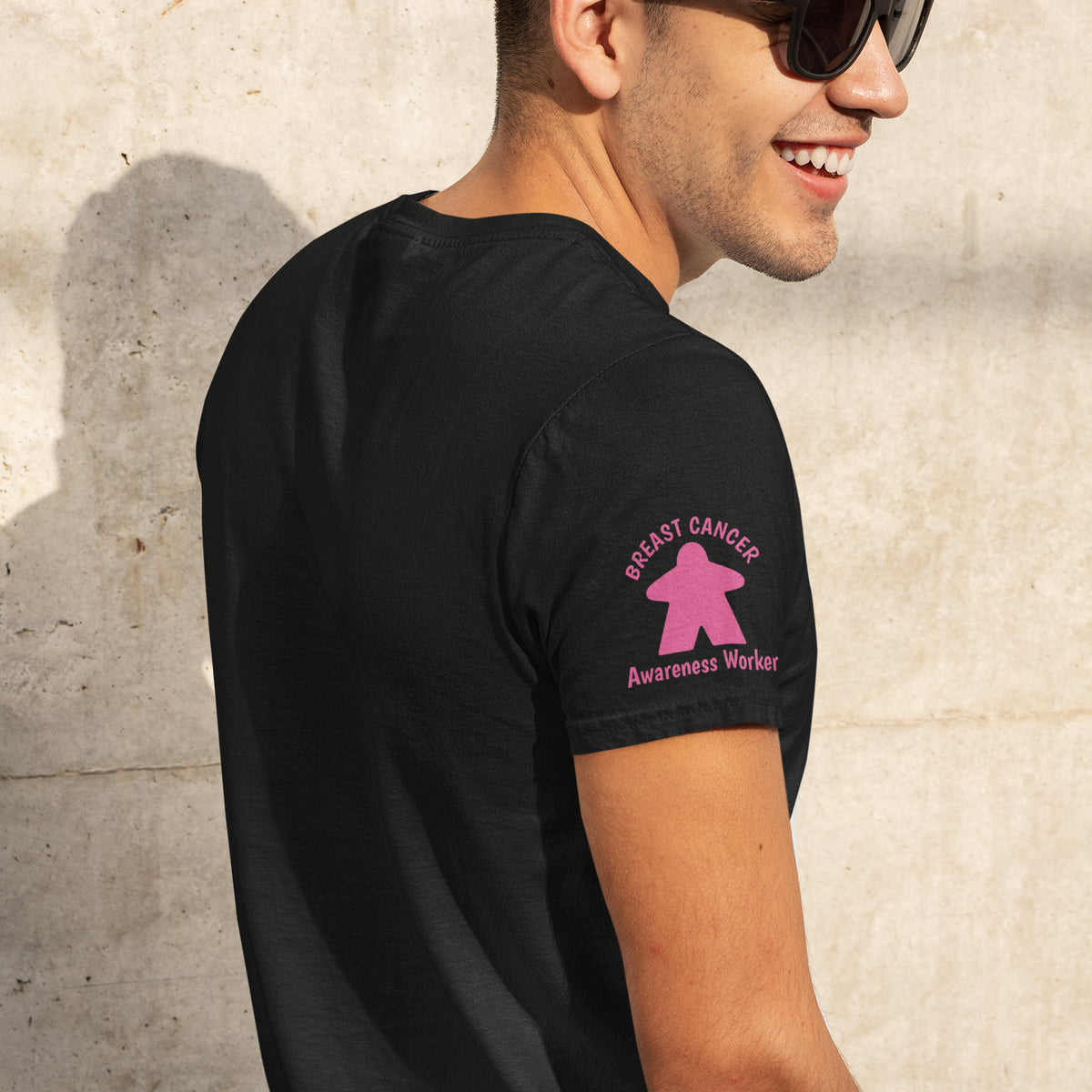Meeple Breast Cancer Awareness Worker T-Shirt