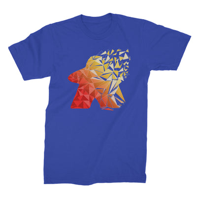 Fragmented Meeple Board Game T-Shirt Men's Flat Blue