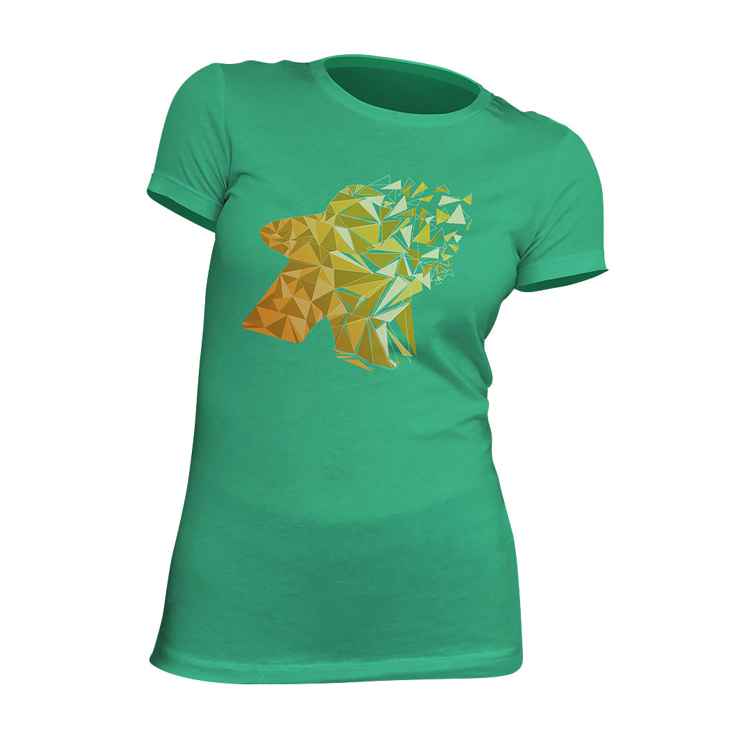 Fragmented Meeple Board Game T-Shirt Women's Flat Green