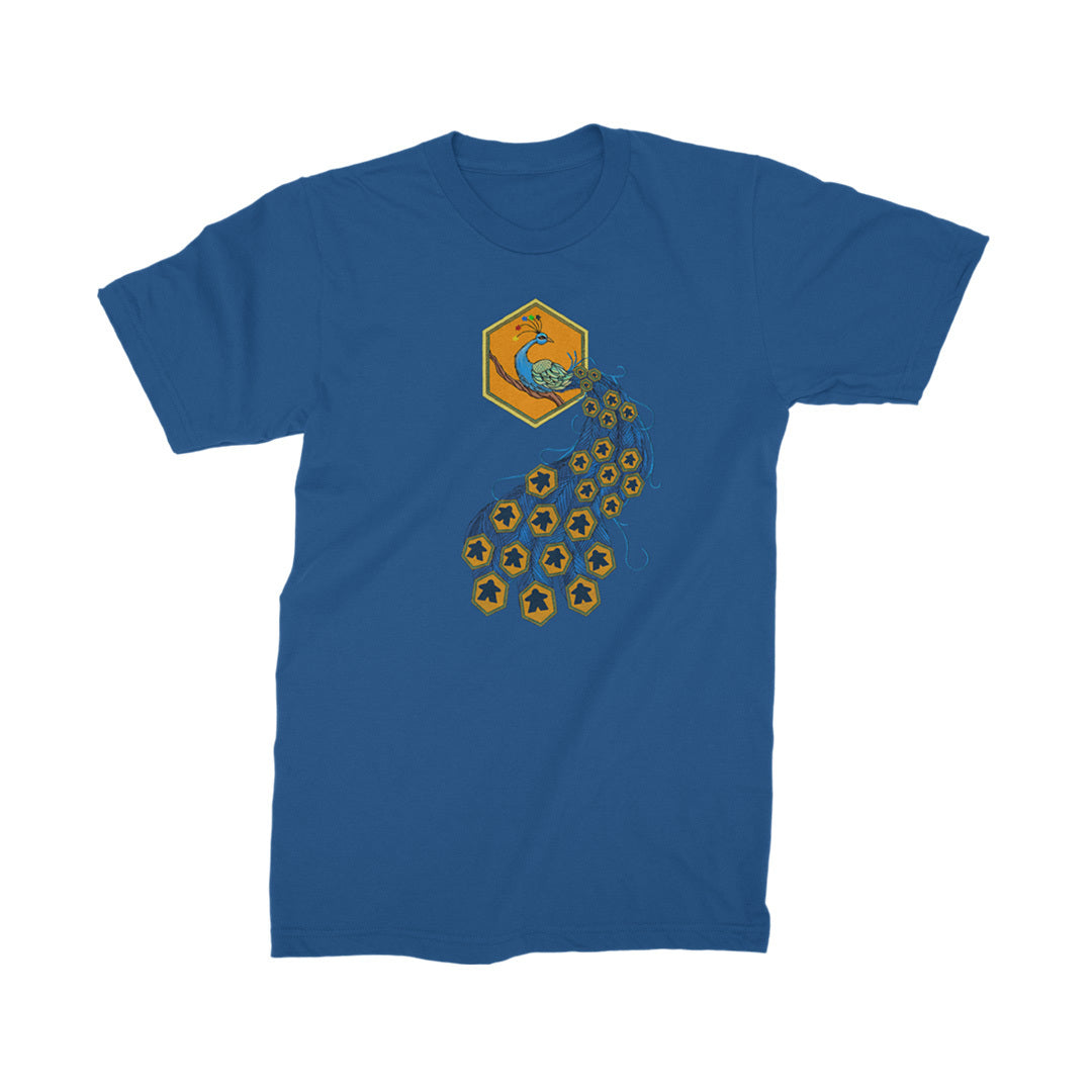 Meeple Cock Board Game T-Shirt Men's Blue