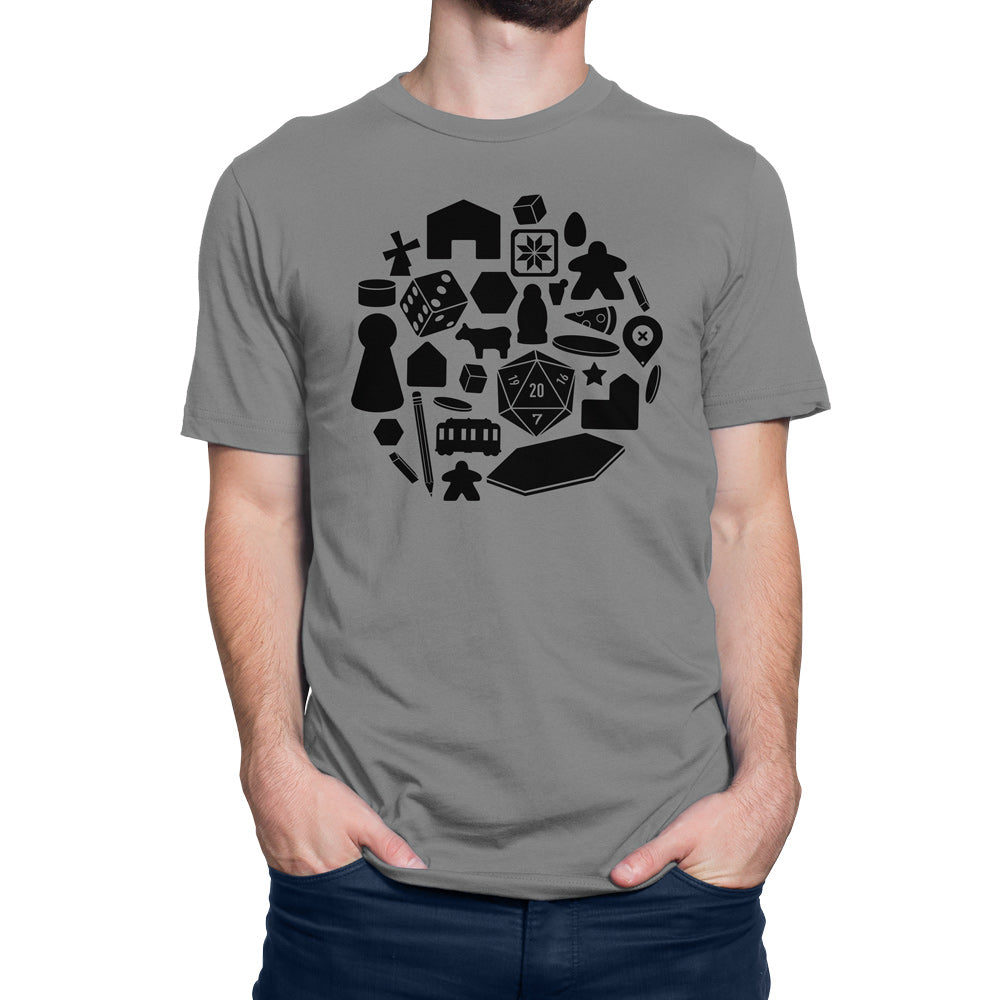 Board Game Pieces T-Shirt Men's