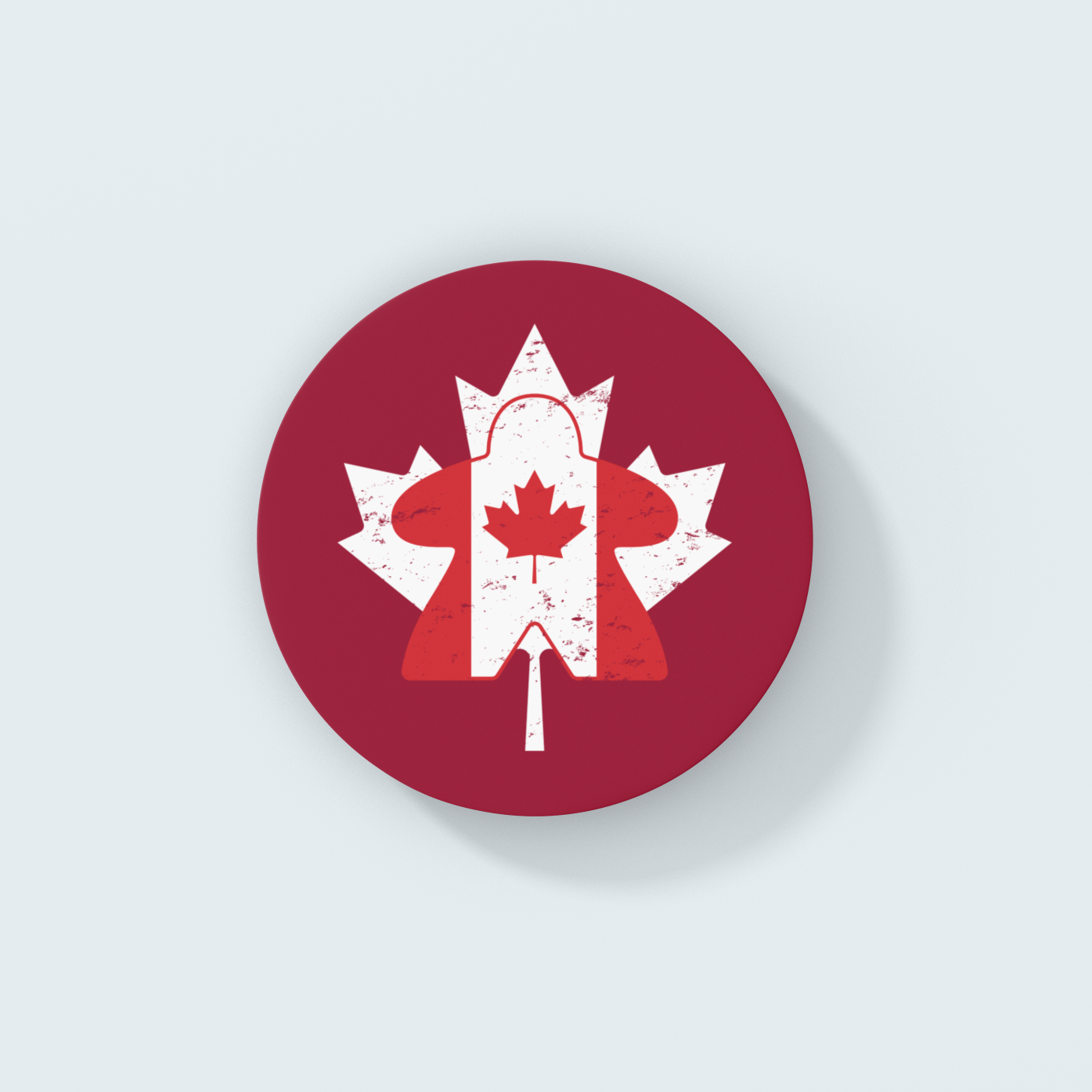 Maple Leaf Canadian Flag Meeple Board Game Coaster