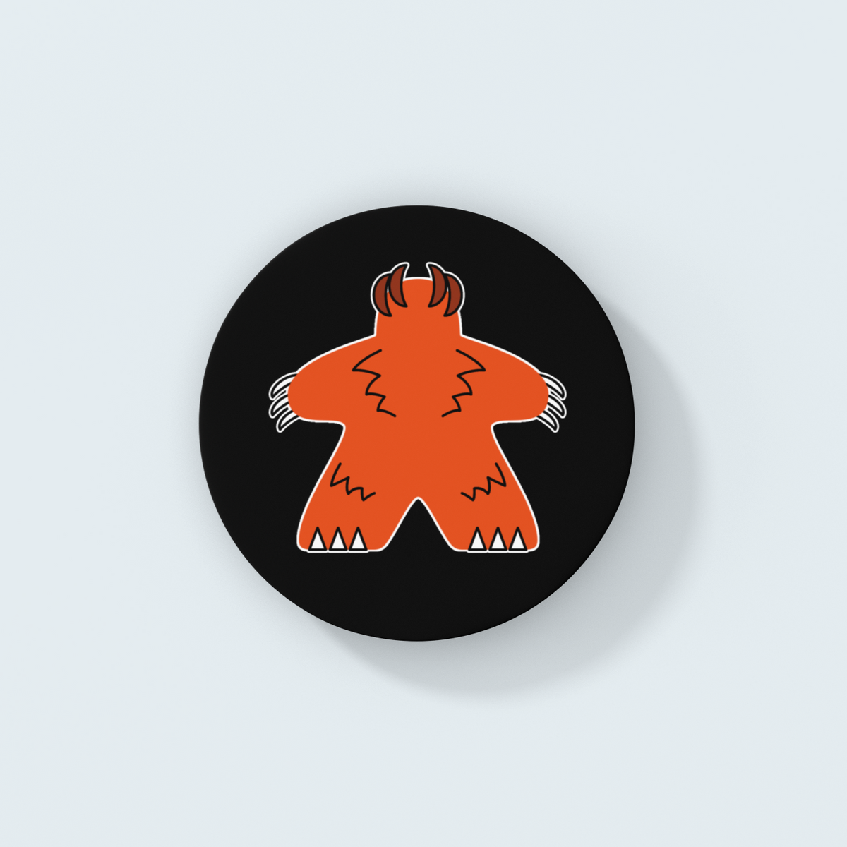 Orange Meeple Halloween Wolfman Coaster