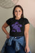 I'm Always Purple Meeple Board Game T-Shirt Action Shot Women's